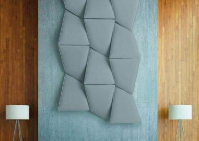 solution acoustique murale bleu sur mesure