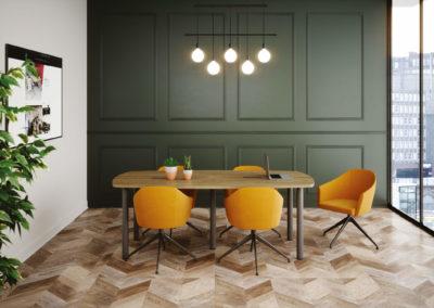 fauteuil modèle nani jaune salle de réunion