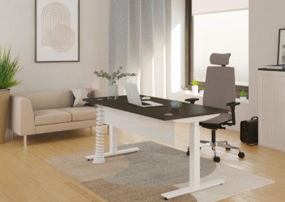 mobilier de bureau assise + bureau plateau bois