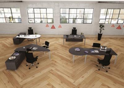 espace bureau en open space agencement arvor bureau Nantes