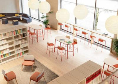 chaises hautes bibliothèque