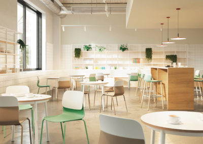 chaise bi-color caféteria