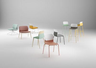 chaise bi-color modèle kilk