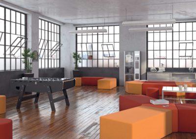 espace détente avec babyfoot PME