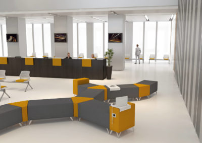 creation espace attente hall accueil siège social 44