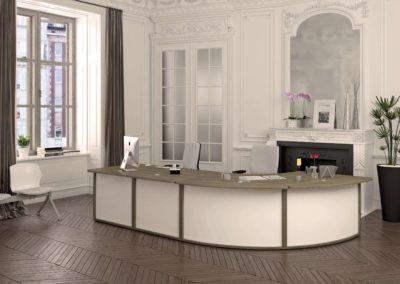 mobilier d'accueil esprit baroque contemporain