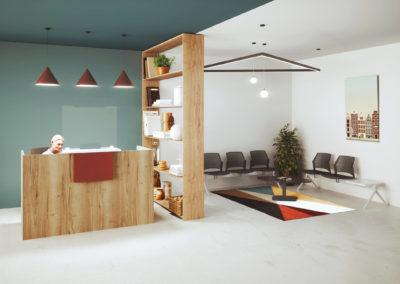 espace accueil + esapce attente client