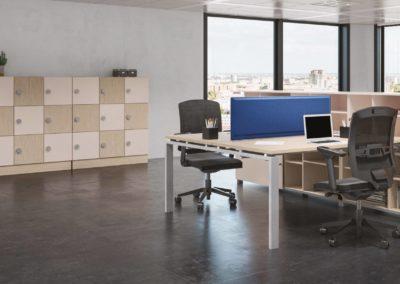 espace bureau avec rangement sur mesure
