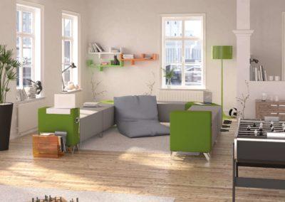 espace détente ave mobilier évolutif