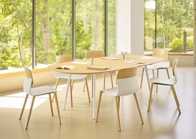 espace assise bois 44 salle de réunion sur-mesure
