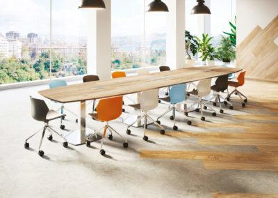 salle de réunion agencement bois +couleurs 44